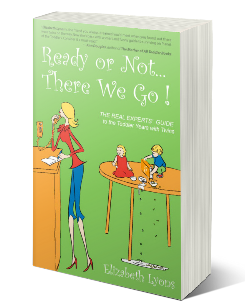 Ready or not there we go the real experts guide to the toddler years with twins by elizabeth lyons